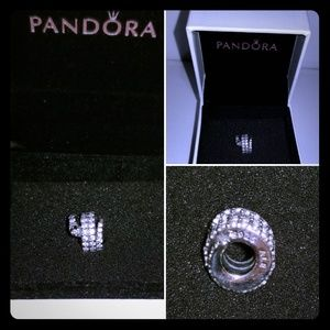AUTHENTIC Pandora silver sparkling snake charm